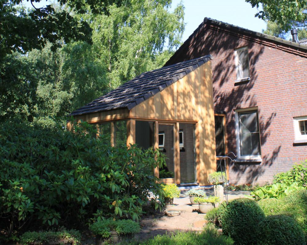 houten aanbouw slaapkamer